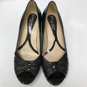 Naturalized No5 Comfort Peep Toe Slip on Heels 6.5